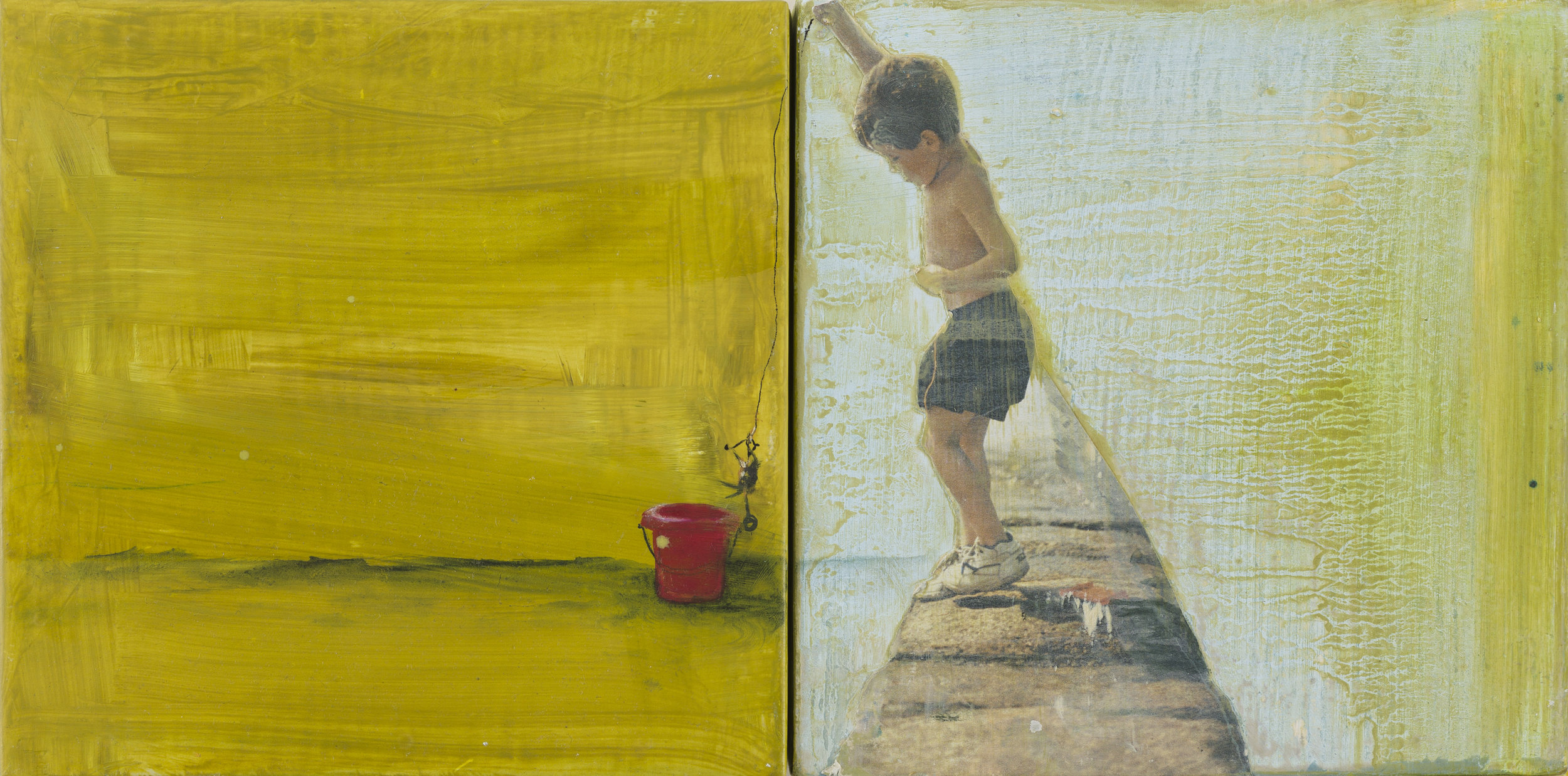 Best of days . 15 x 30cms. Dyptich. Oil and mixed media on board.