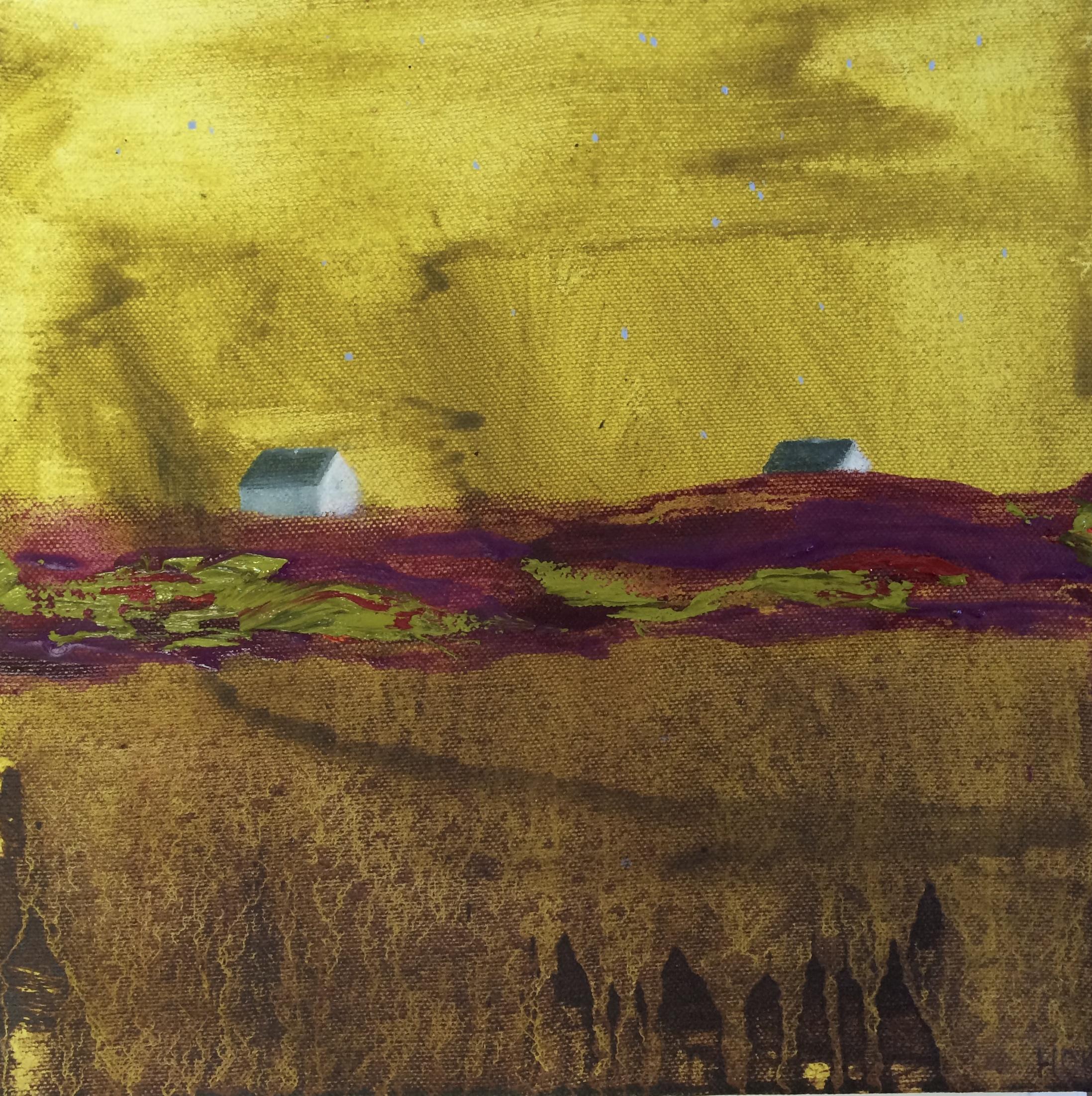 Neighbours - Long Island  Oil on Canvas