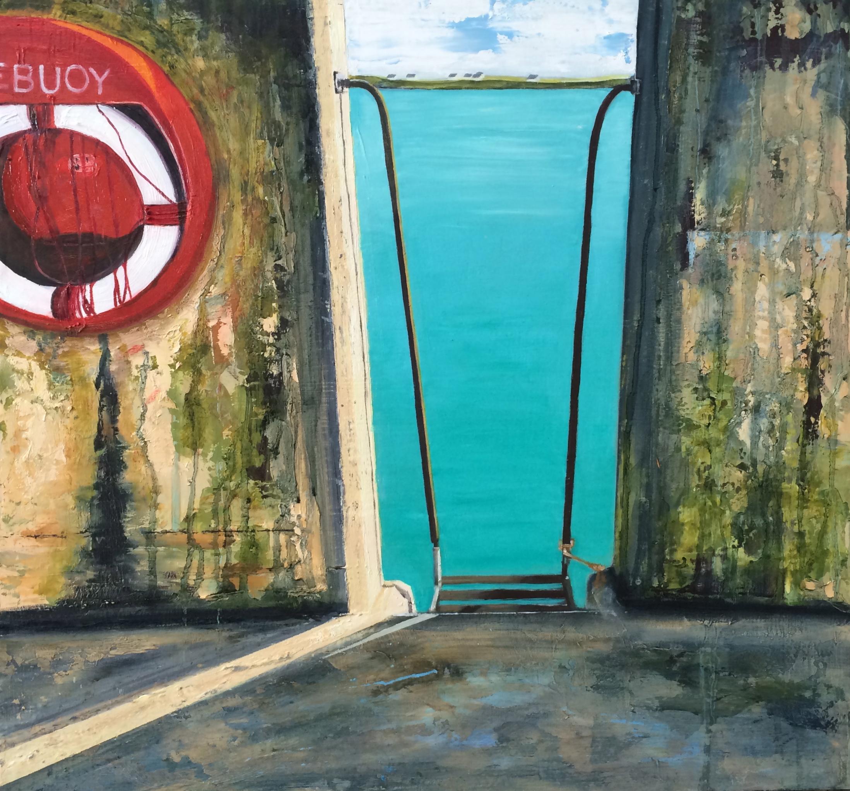 Colla Pier . 49 x 51cms. Oil on board.