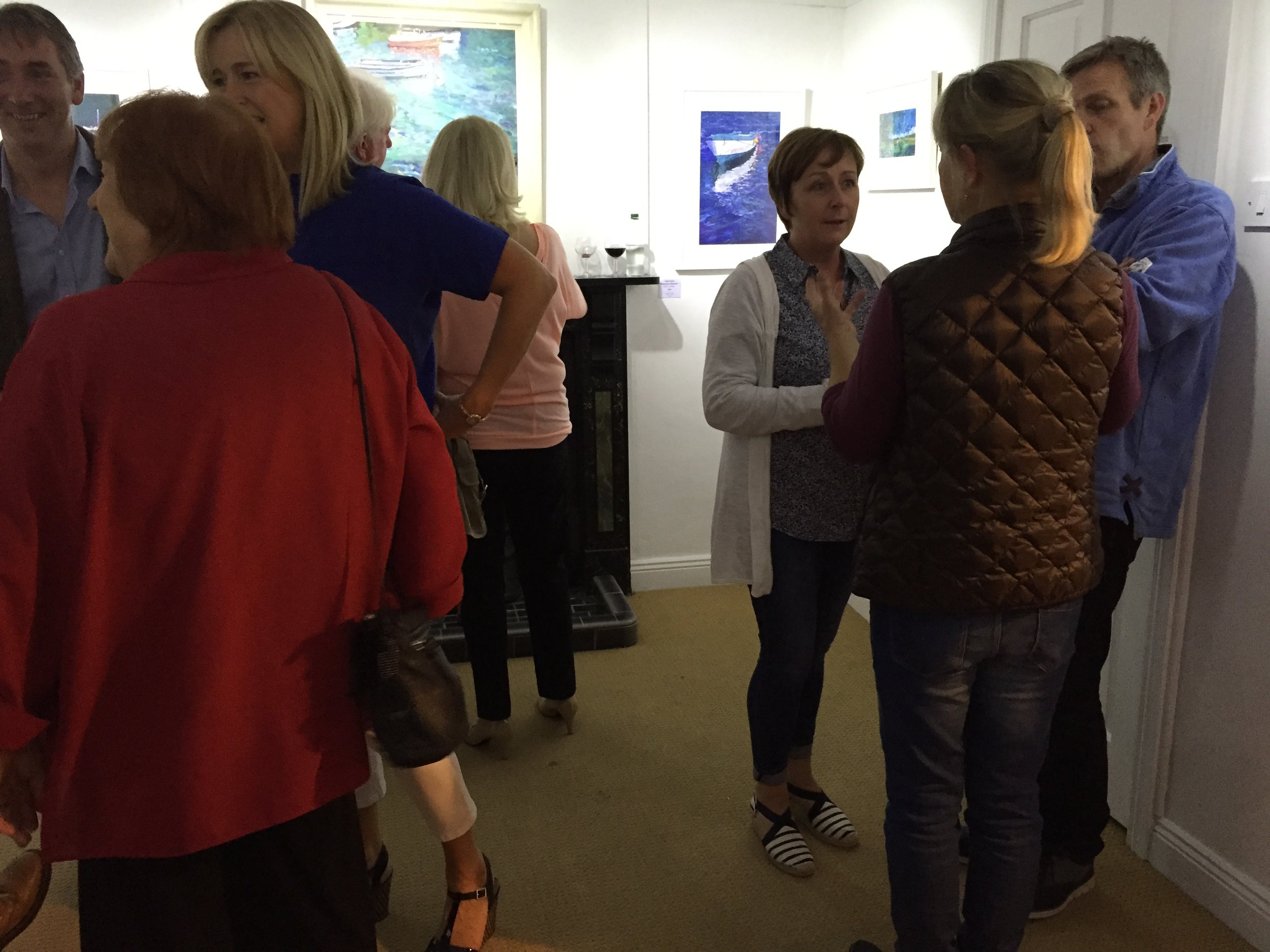 At the opening of 'Two Of A Kind:From Sea To Sky'