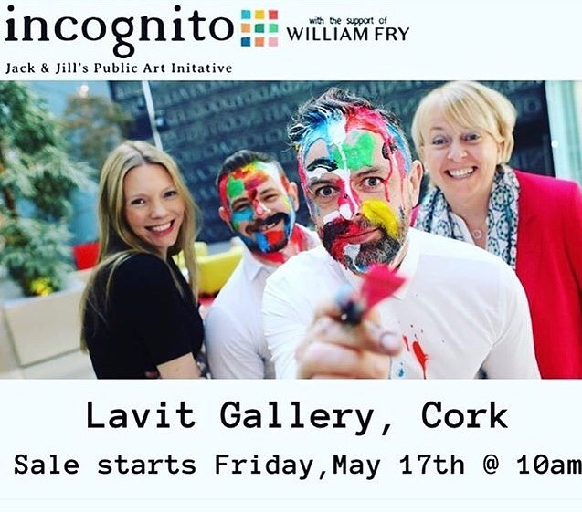 Delighted to have my work showing in the Incognito show at @lavitgallery supporting the fabulous Jack and Jill Foundation! Such an amazing organisation.  All works €50! #jackandjillfoundation #art #incognito