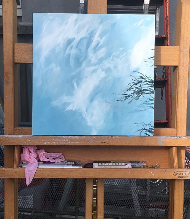 Busy painting outside - hopefully weather will behave! 'What lies beneath' oil on board, nearly ready for upcoming exhibition. . . . . . #oilpainting #landscapepainting #irishcintemporaryart #irishart  #visualart