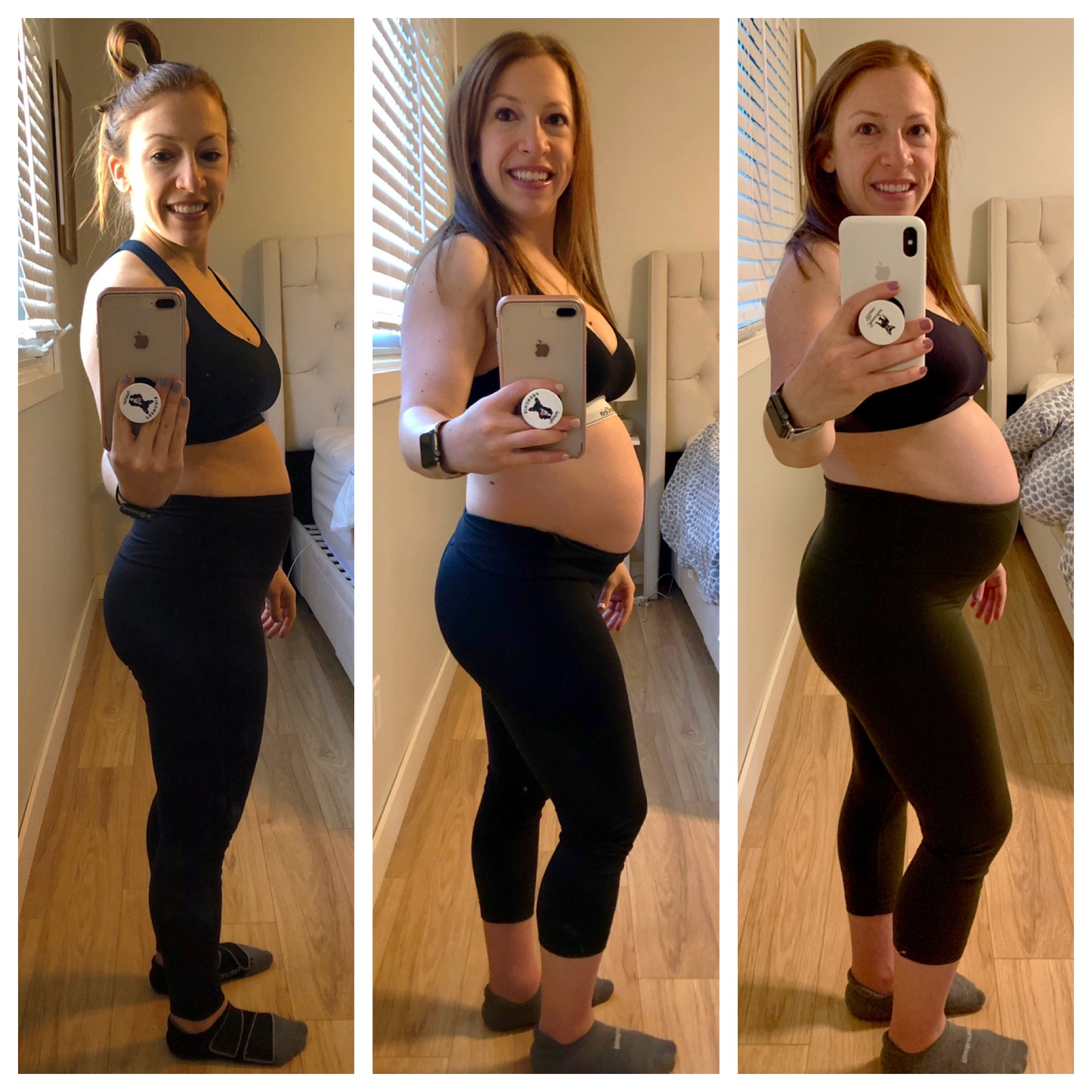This was 14 weeks, 20 weeks, and 27 weeks. The beginning, middle and end of second trimester.