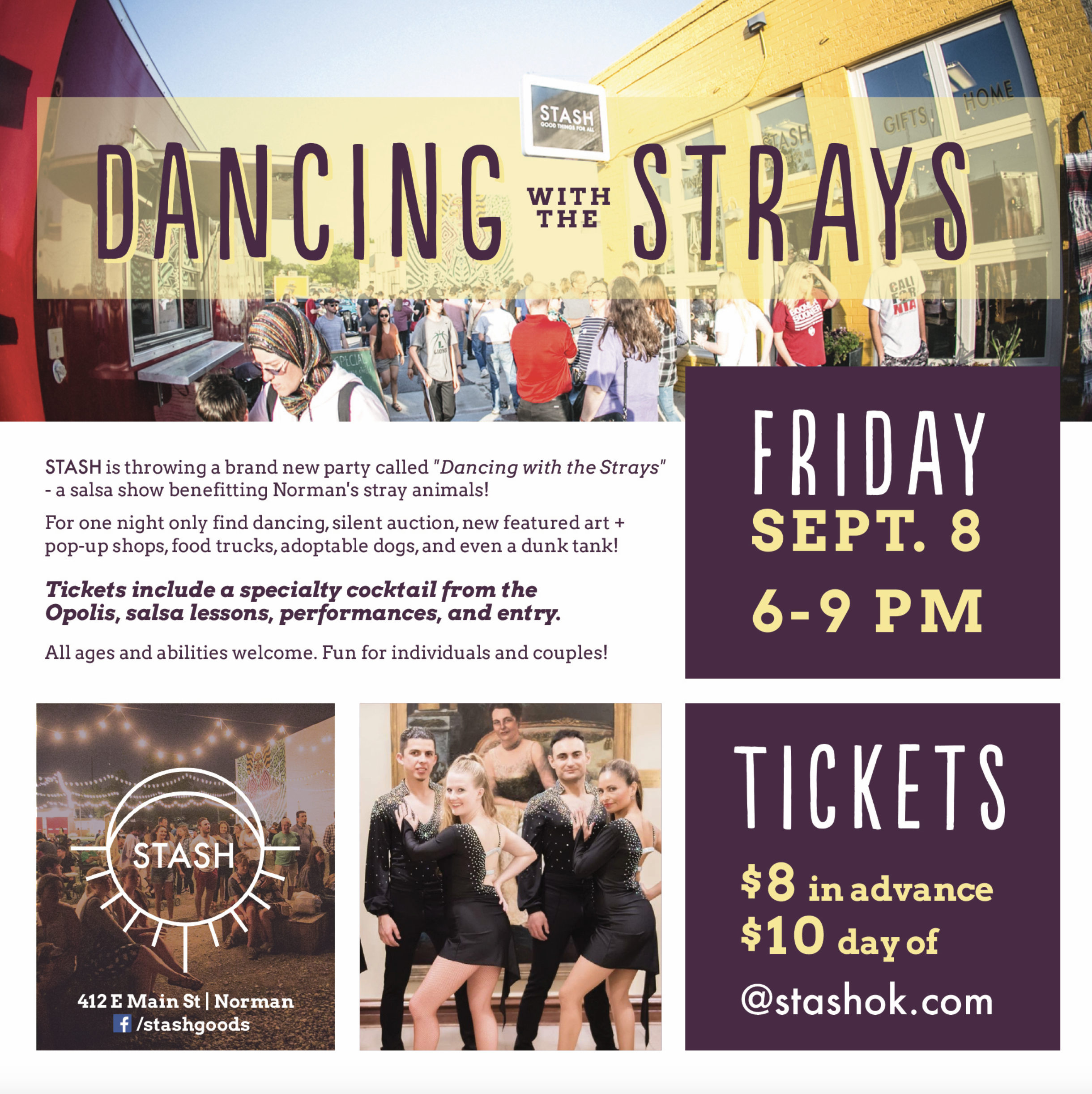 Dancing with the Strays | Donated Flyer Design