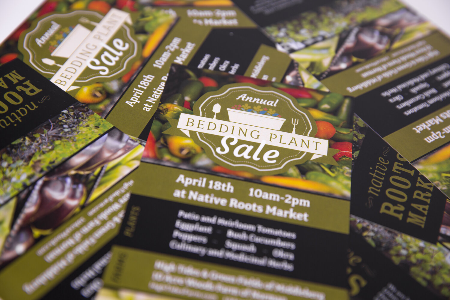 Native Roots | Bedding Plant Sale Event Branding + Flyer Design