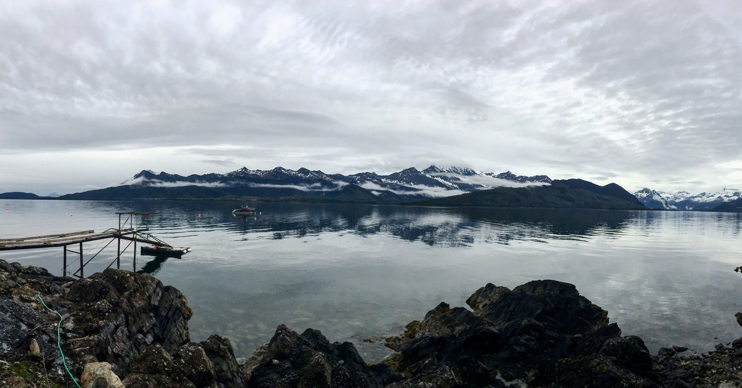 The backdrop to one of the locations Mark has filmed at for the series, in Prince William Sound.