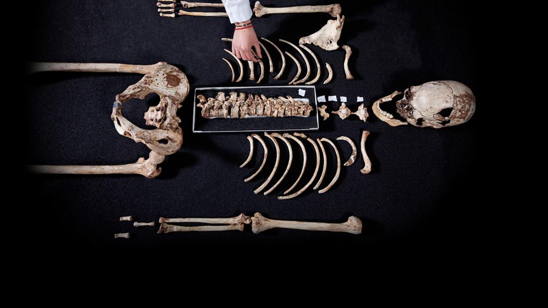 Cheddar Man's complete 10,000 year old skeleton was originally discovered in 1903 Image credit: © Channel 4/Plimsoll Productions