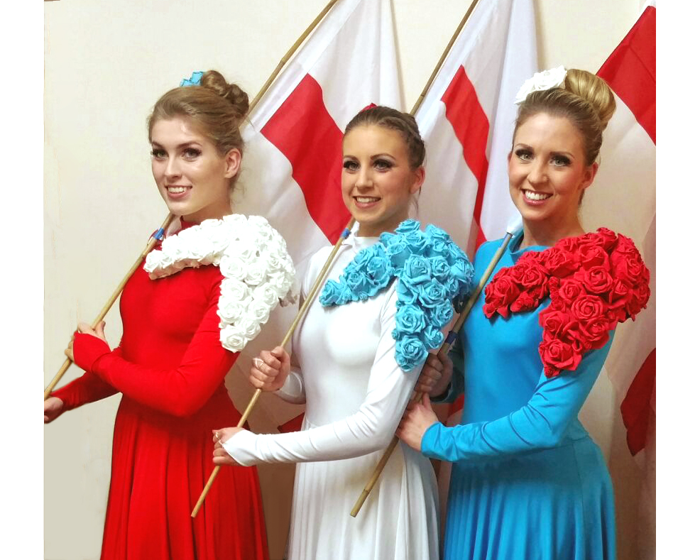 Light Emitting Dance in red, white and blue, flag performance 2, Divine Company.jpg