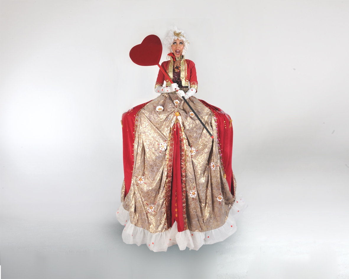 The Queen Of Hearts, stilt performance, Divine Company.jpg