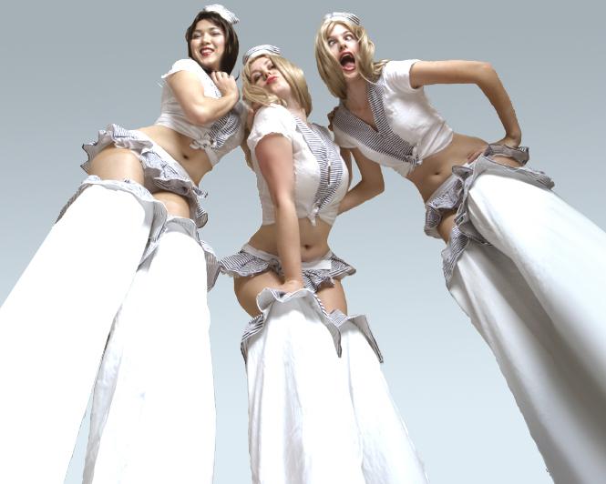 Hello Sailorettes, stilt performance 2, Divine Company.jpg