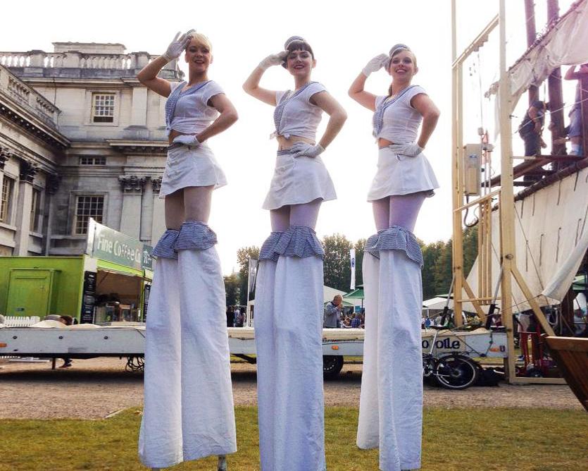 Hello Sailorettes, stilt performance 4, Divine Company.jpg