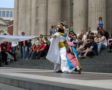 Geishas, flag performance 2, Divine Company.jpg