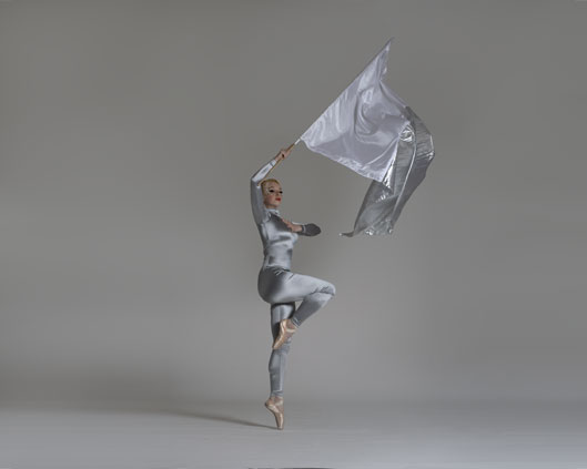 Silver, flag performance, Divine Company.jpg