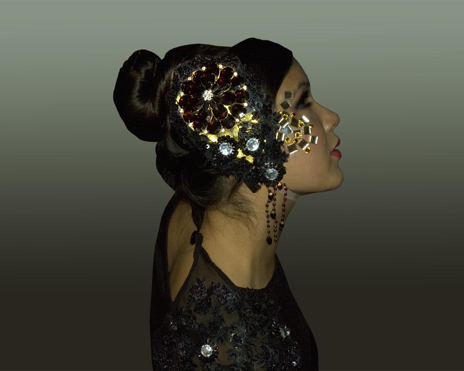 costume, black head dress, Divine Company.jpg