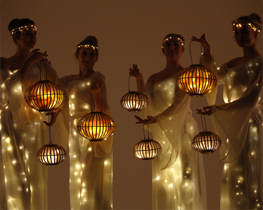 Arcadians with lanterns 2, Divine Company - Copy.jpg