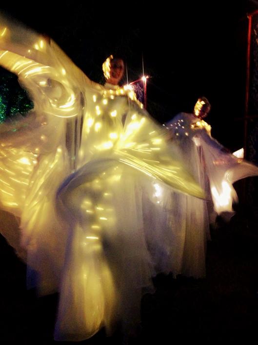Optioscopes in white, stilt performance 4, Divine Company.jpg