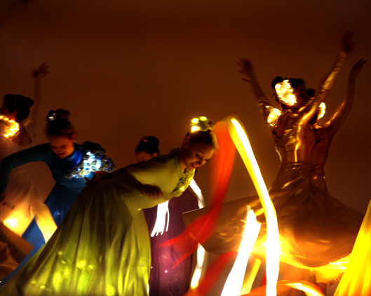 Light Emitting Dance in colour with illuminated ribbons 2, Divine Company - Copy.jpg