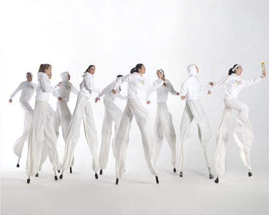 Olympic Athletes, stilt performance 3, Divine Company.jpg