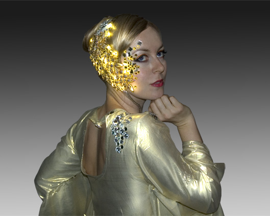costume, gold light head dress, Divine Company.jpg