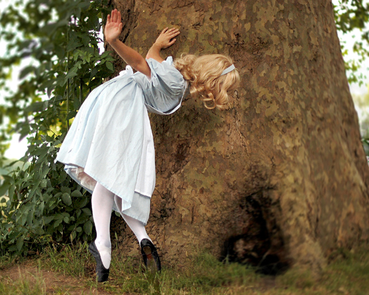Alice and the rabbit hole, Divine Company.jpg