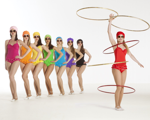 Technicolor Bathers, hoop performance 3, Divine Company.jpg