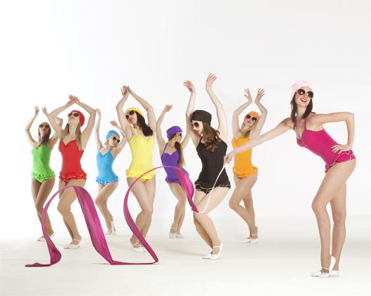 Technicolor Bathers, ribbon performance 10, Divine Company.jpg