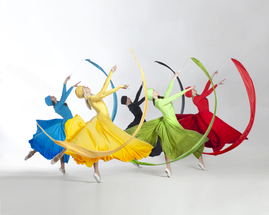 Light Emitting Dance in Olympic colours, Divine Company.jpg