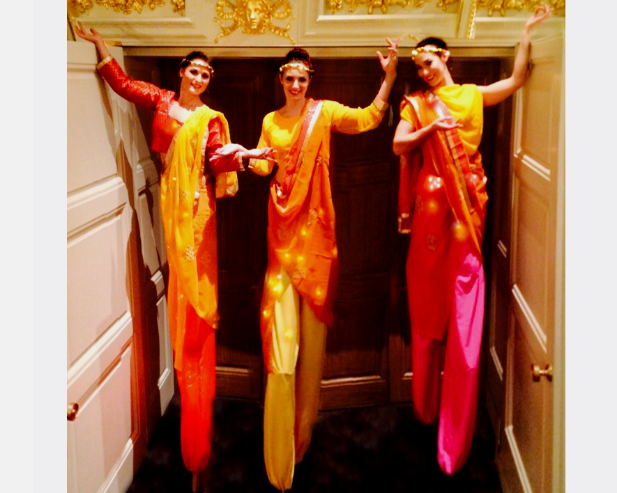 Bollywood, stilt performance 2, Divine Company.jpg