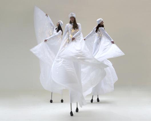 Optioscopes in white, stilt performance, Divine Company.jpg