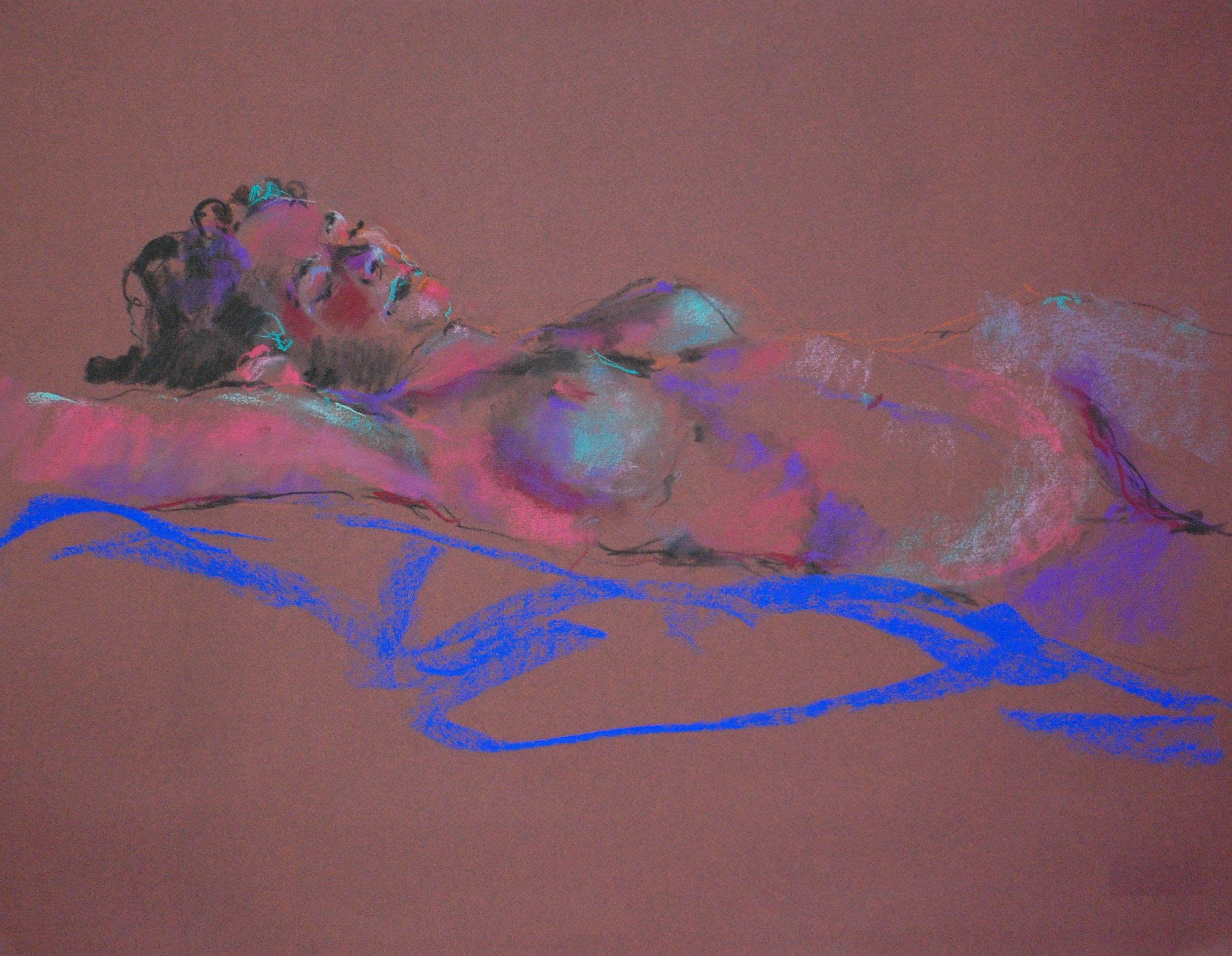 Nude in Blue Light