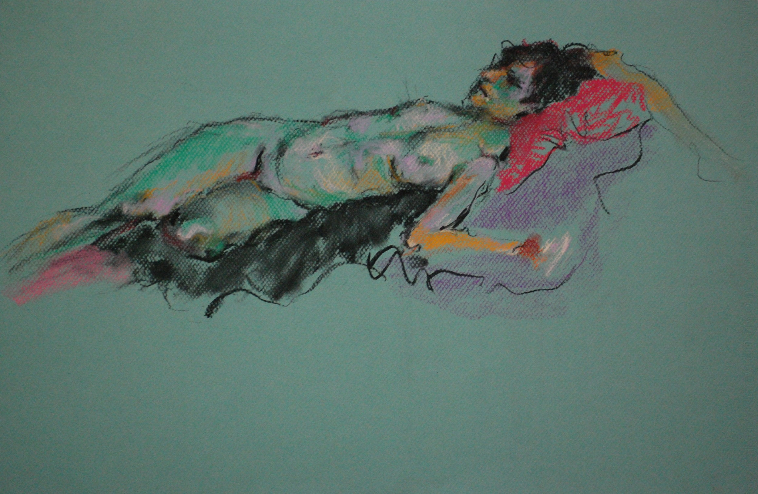 Nude on Pink Pillow