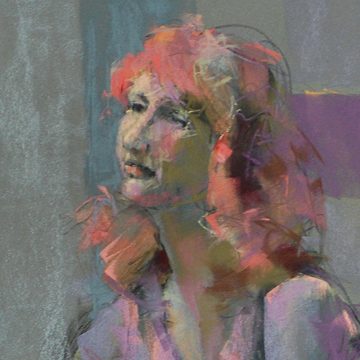 Redhead in Purple