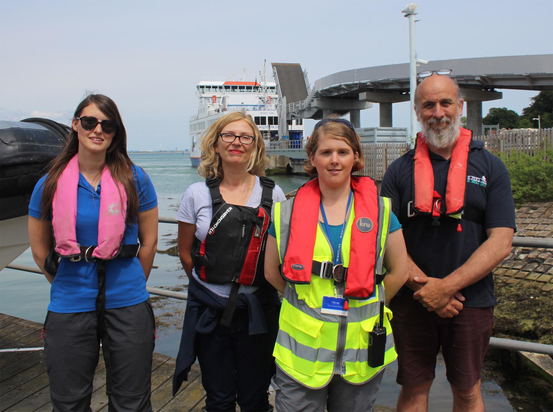 Boat trip Alice Hall, Claire Hector, Nicola Craig, Ian Boyd.jpg