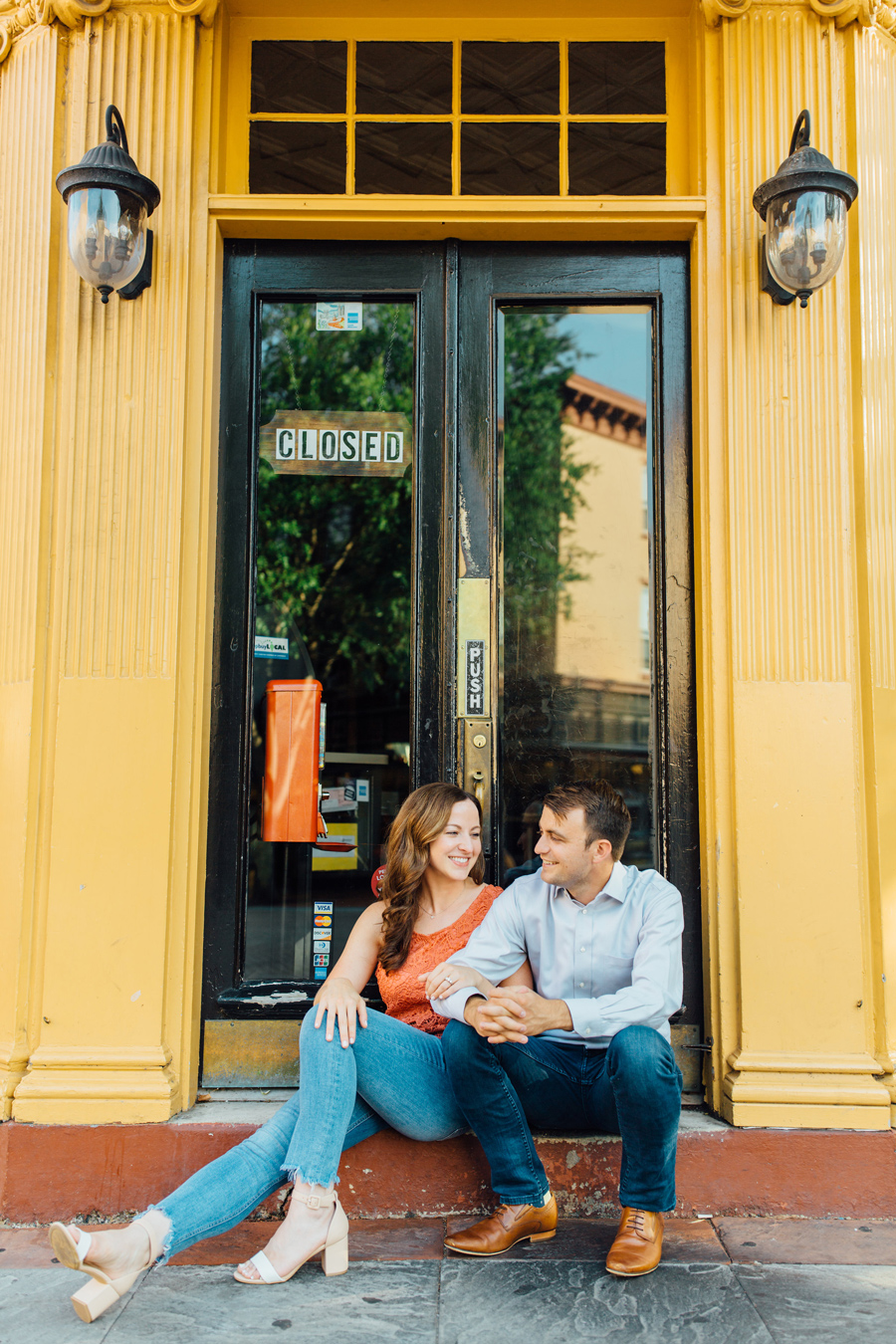 Downtown West Chester Engagement Session