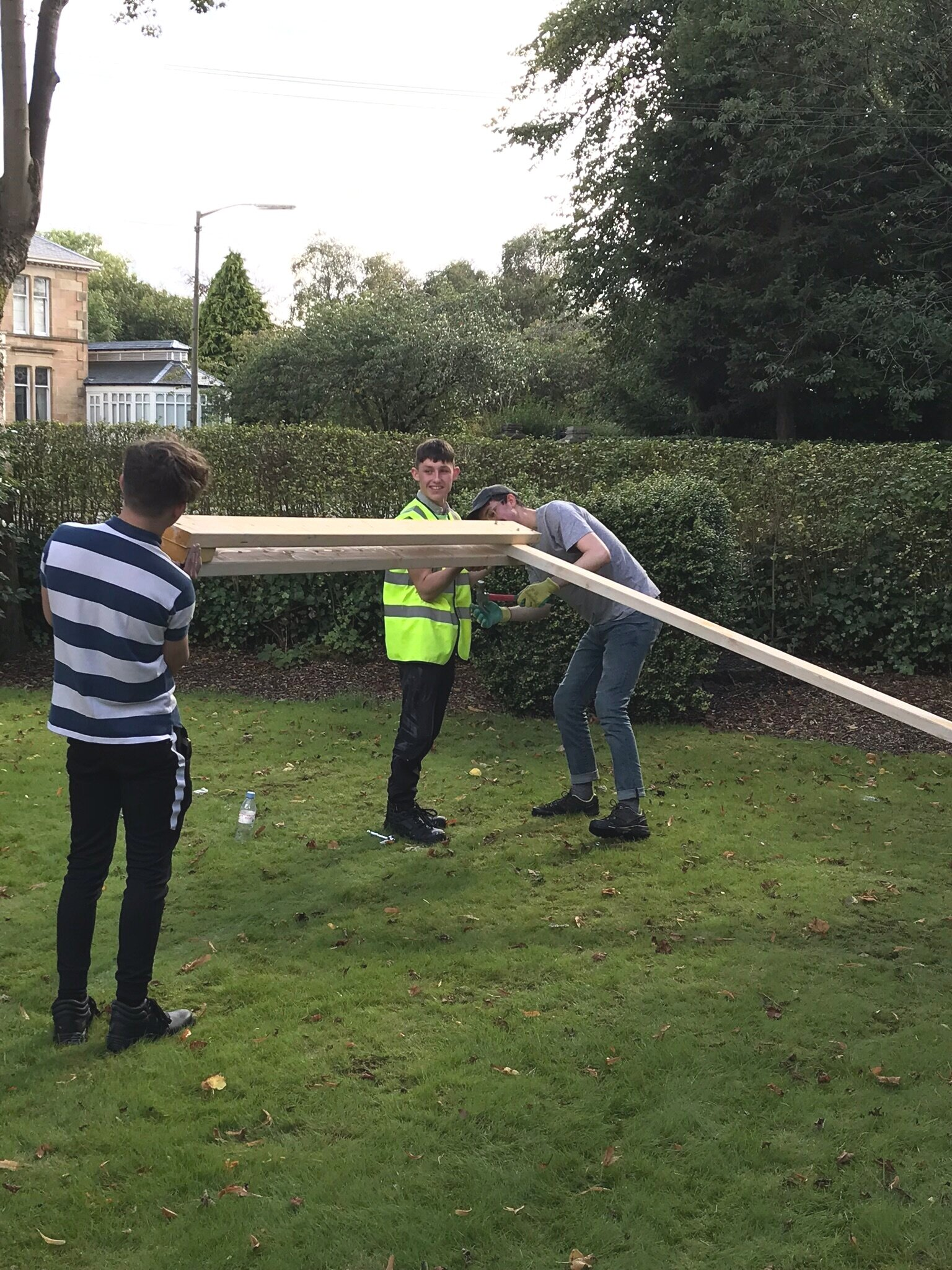 September 2019   This week we welcomed young people from Barnardo's Works to get involved with the Community Classroom. They spent the day assisting with the build, learning about design processes and construction techniques. A greatly inspiring day - thanks to all those involved.