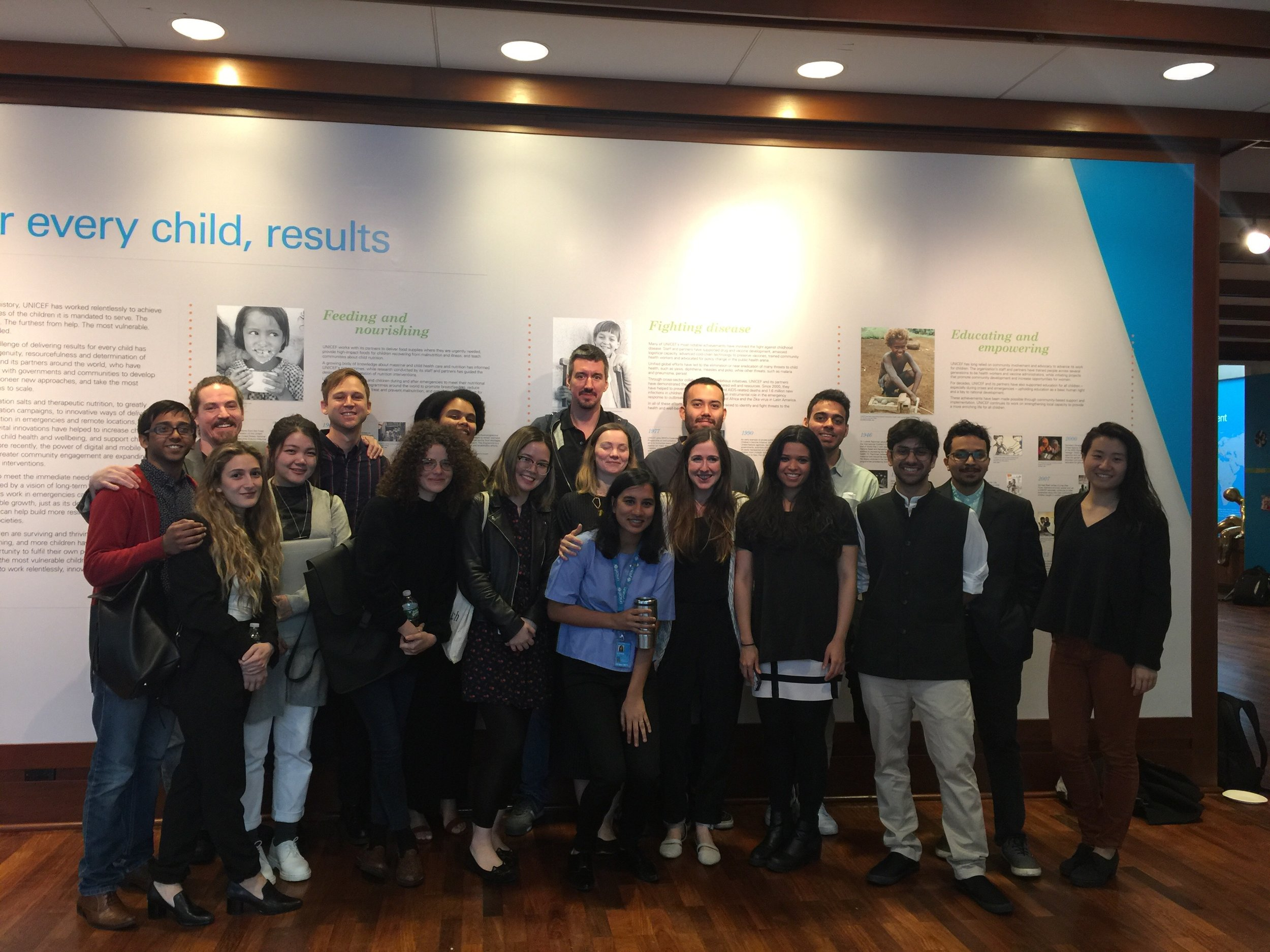 The NYU 'Doing Good is Good Business' crew after we all presented at UNICEF headquarters in NYC.