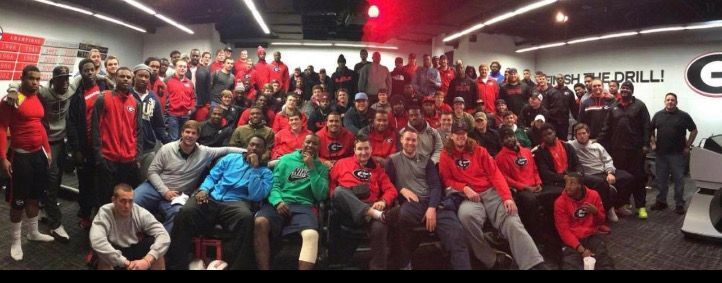 The University of Georgia Football Team -Picture taken after the presentation