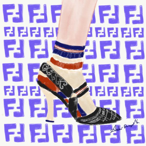 Fendi shoes with socks