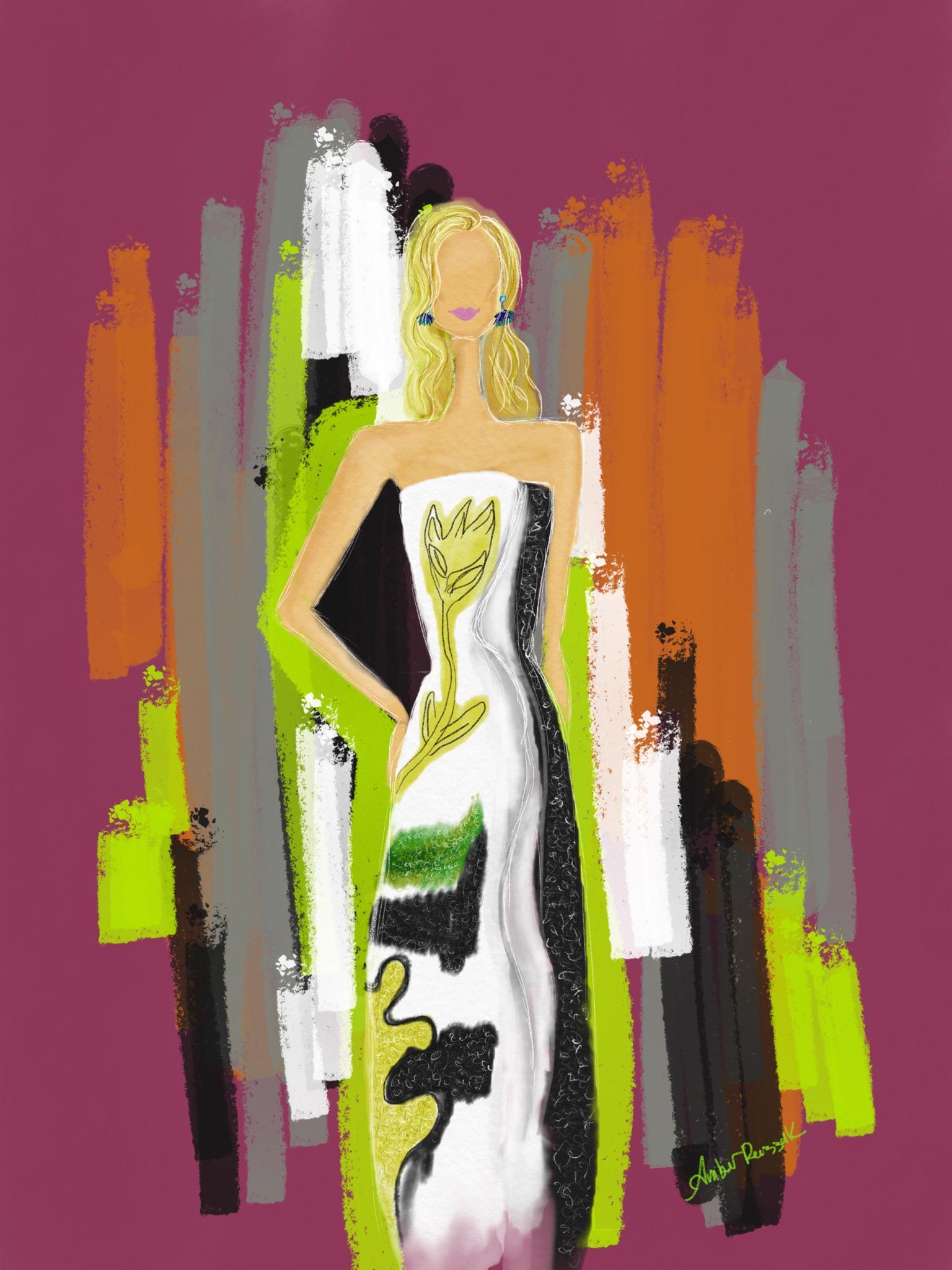 Oscar de la Renta 2017 dress