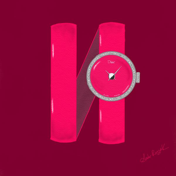 Lady Dior watch