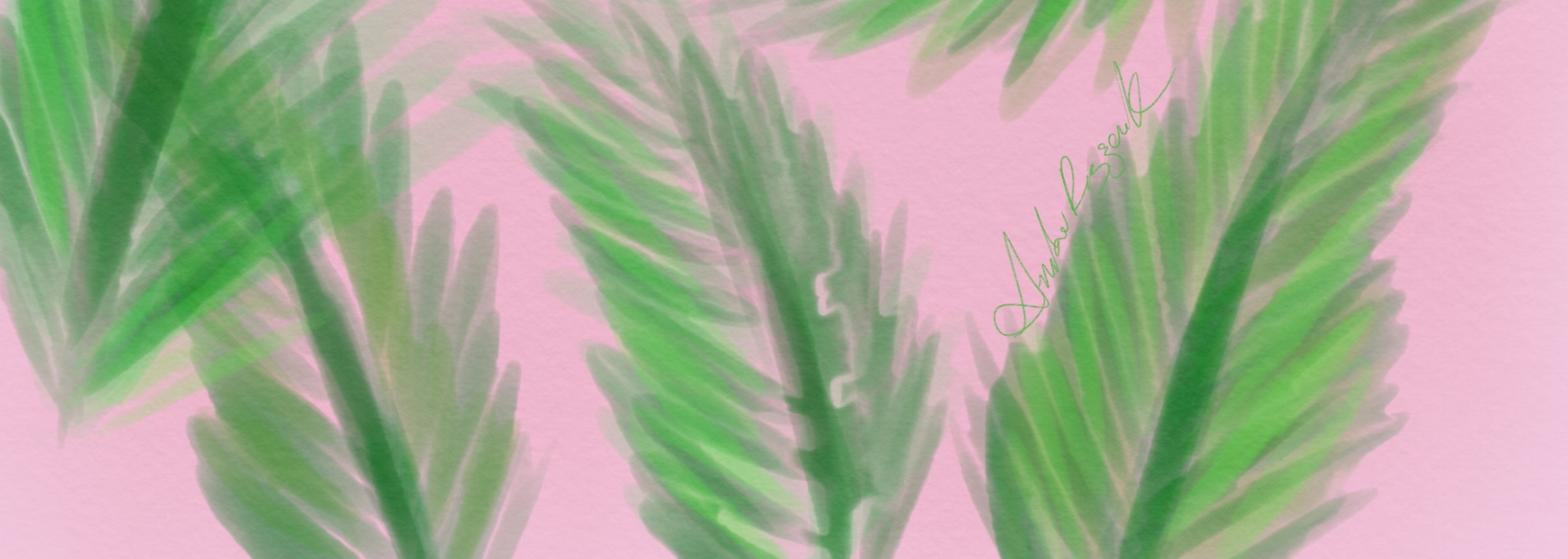 Pink n' Palms - Sit and relax under the pink and green palm motif!