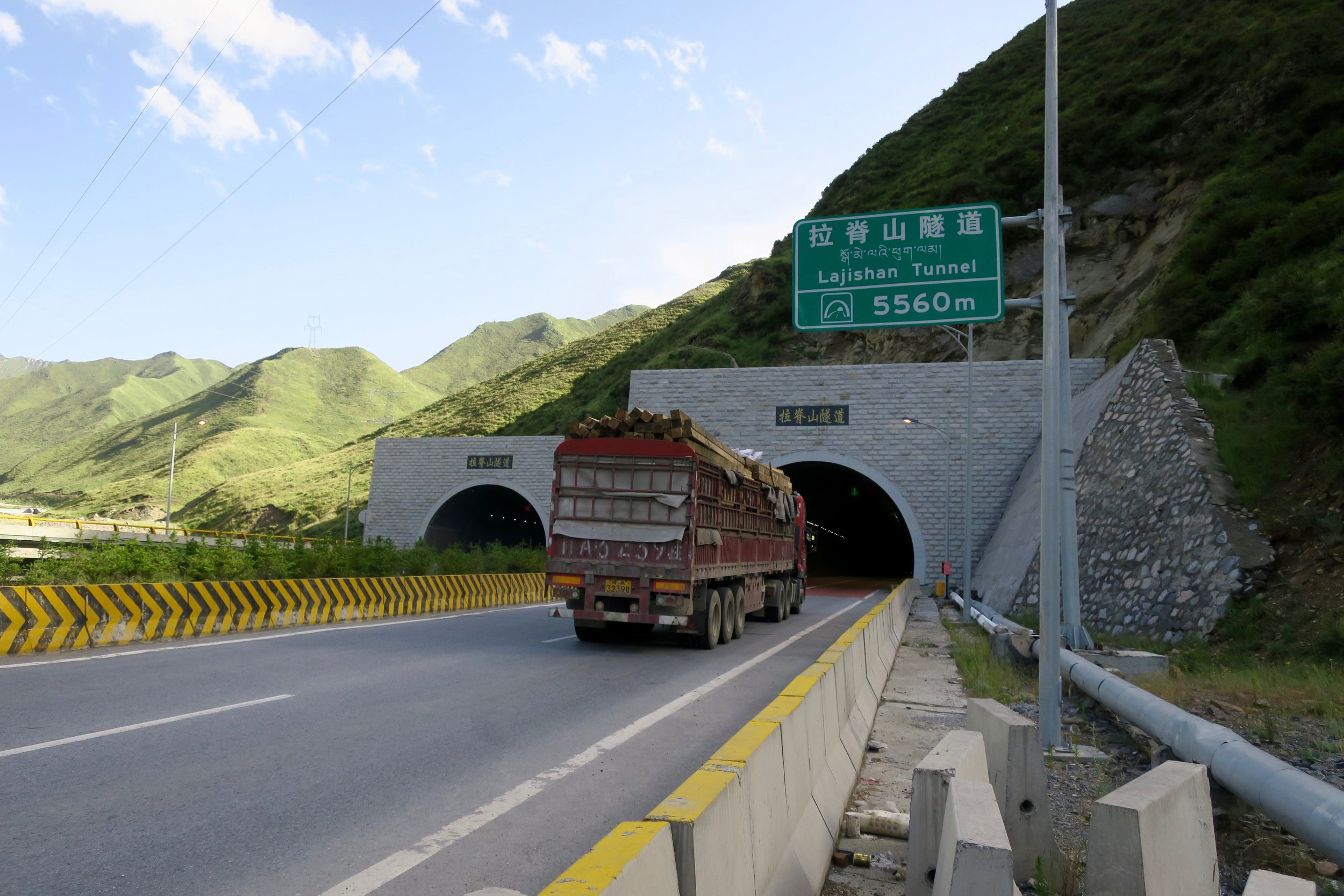 China loves to build tunnels. I've been though a lot of them in my short time here. But I've never experienced one 3.45 miles long. White knuckles for sure! Also probably lost a lot of brain cells from the fumes