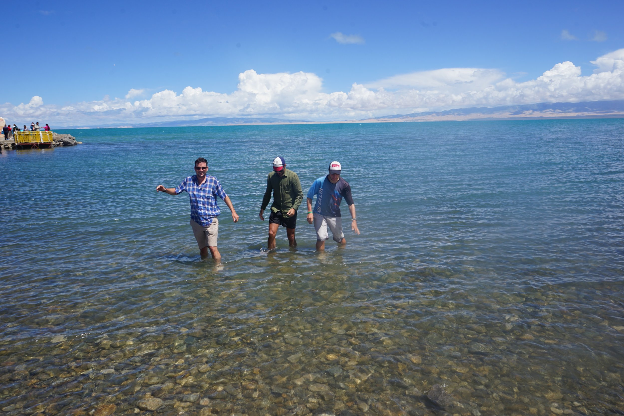 Qinghai Lake, China's largest, and it's salt water