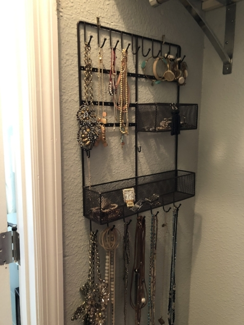 Jewelry organization    It is helpful to see your costume jewelry. Hanging it on the wall will increase how much you use the jewelry you own.