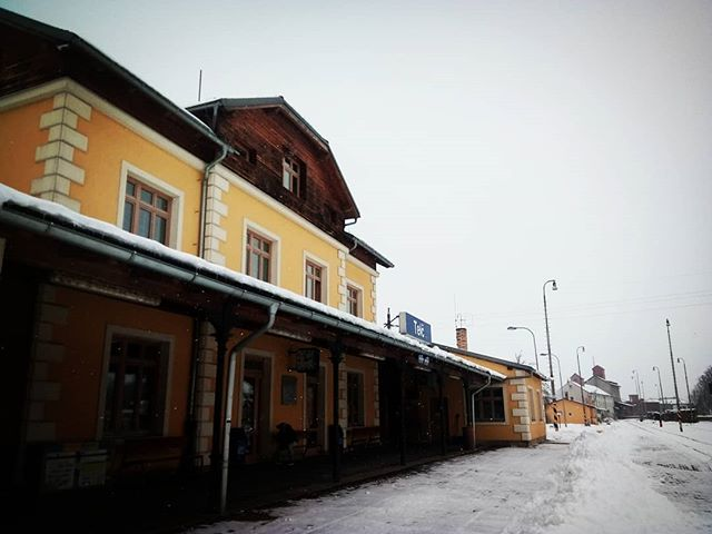 So long for now, to this lovely wintery hamlet.  #travel #CZ #outtherecz #getoutthere #Telč #CzechRepublic #ontheroad