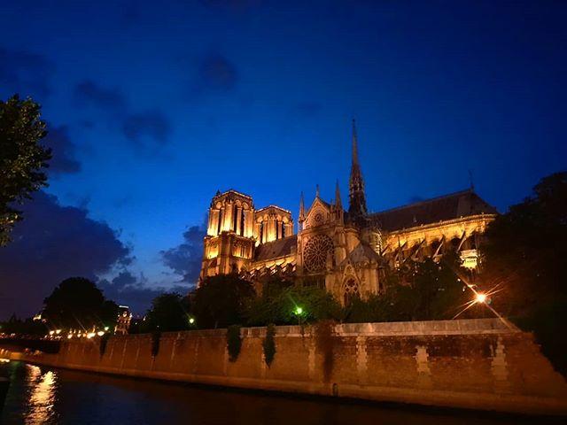 Deep summer in Paris. . . . . #paris #france #notredame #cathedral #summernights #summer #nofilter #travel #europe #eurotravel #europeantravel #traveler