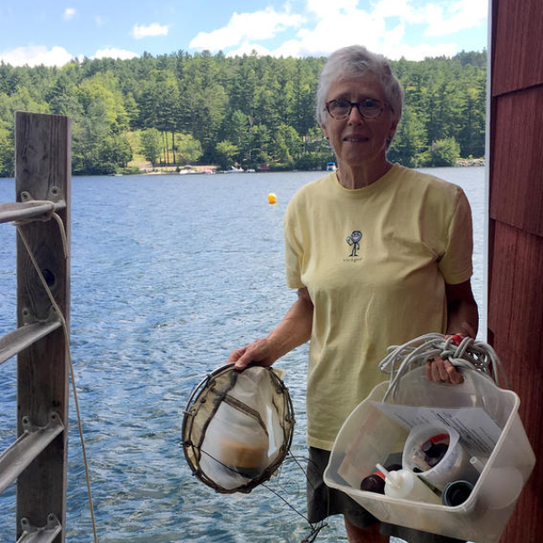 NHPR: Researchers Recruit Drones, Satellites in Quest to Understand Cyanobacteria    Every summer morning, Midge Eliassen has the same routine. She walks out her back door, down the steps, and onto her dock on Lake Sunapee. There, she pulls out a plankton net and takes a sample from the water, shipping off the results to be analyzed in a lab at Dartmouth College. She's been doing this, rain or shine, for 12 years, and lately things having been changing.