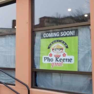 NHPR: After Weeks in the Spotlight, Decision Coming Soon on 'Pho Keene Great'    The city of Keene has been in the spotlight over the name of a new Vietnamese restaurant coming to town. Some find it offensive, some find it funny, and others are wondering if there's more to the story than meets the eye.