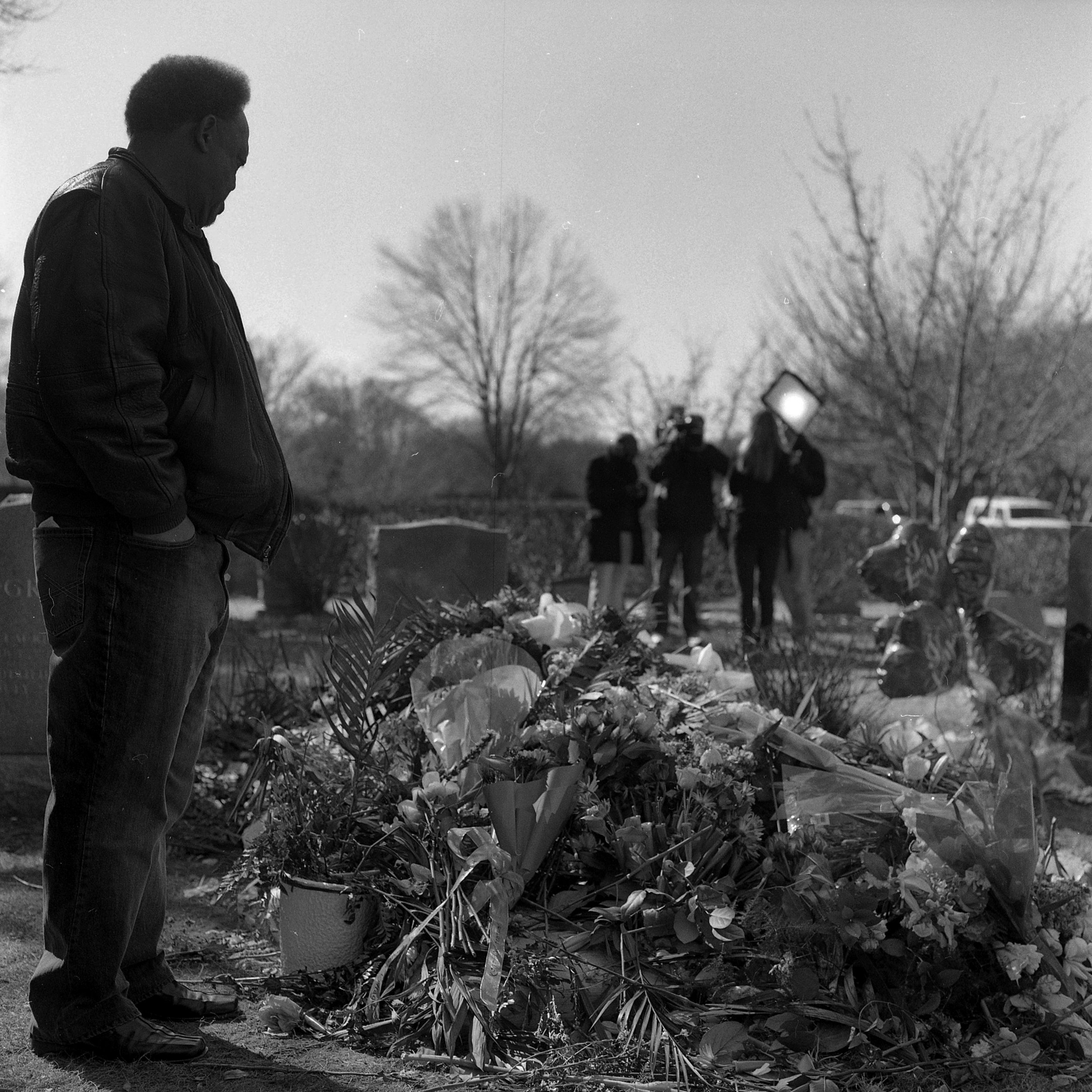 Whitney Houston's grave, Westfield, New Jersey, 2012