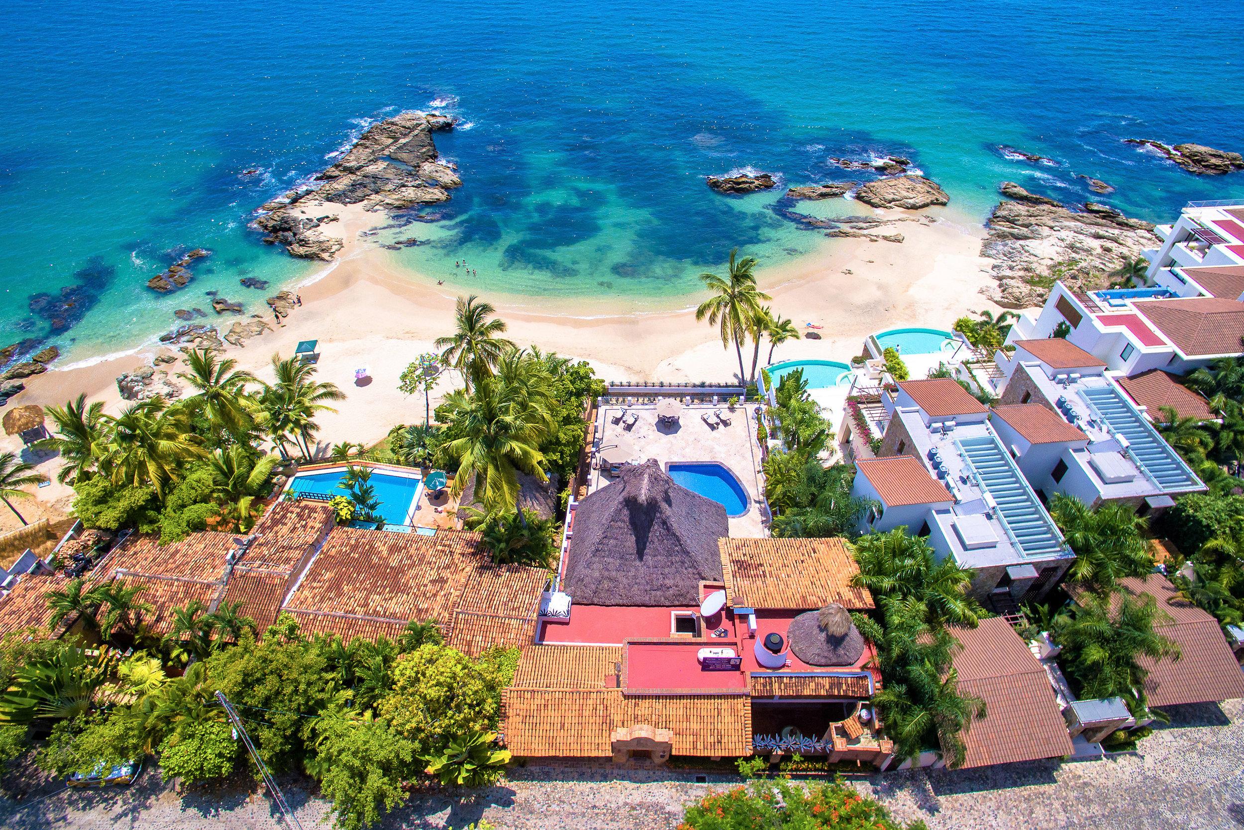 Vacation Vallarta Villa Verde Drone View